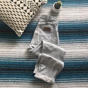Vintage High Rise Raw Hem Wrangler Jeans